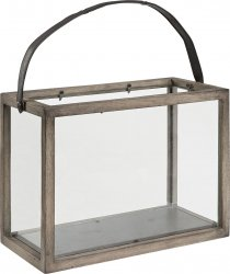 Double lantern ljuslykta vintage grey artwood