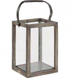 lantern single vintage grey artwood