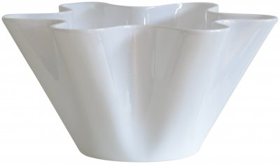 Vas sea shell glossy white glaserad vit